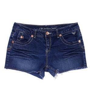 Justice Girls Cut Off Denim Shorts